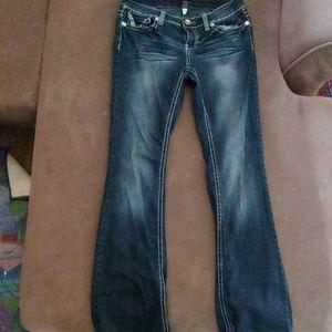 Size 7/8 Ariya Dark Washed Bootcut Jeans